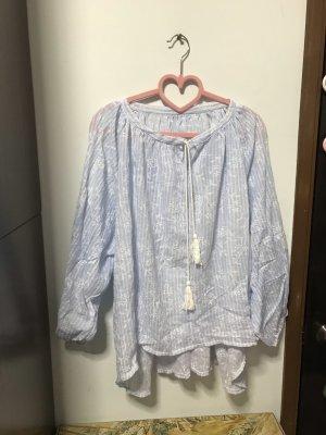Blusa ancha blanco-azul