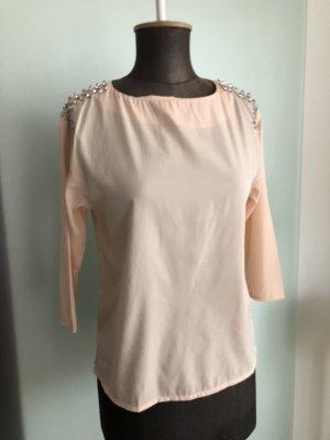 Bluse mit Strass Gr 34 36 XS von H&M