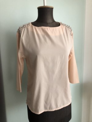Bluse mit Strass Gr 34 XS rosa von H&M