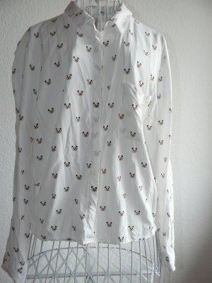 Bluse mit süsem Pandamuster von Breshka mit Knopfdetail