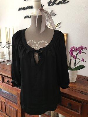 H&M Slip-over Blouse black polyester