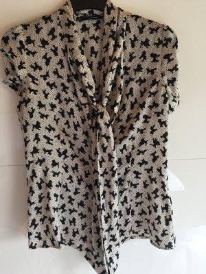 Bluse mit süßem Muster/Größe 38/ungetragen/Hallhuber