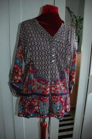 Bluse mit Taillenband von Camaieu GR 44 BOHO