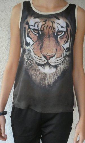 Bluse mit Tigermotiv