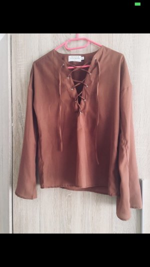 NKD Wraparound Blouse brown-cognac-coloured