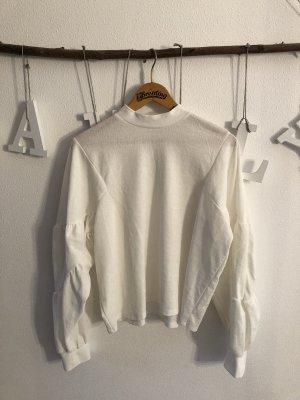 Zara Blusa de manga larga blanco puro