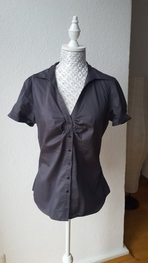 Bluse mit V-Ausschnitt anthrazit Gr 40
