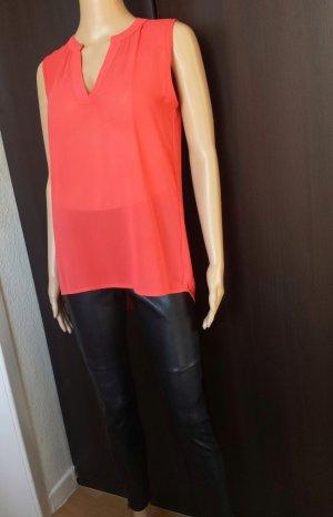 100% Fashion Blusa senza maniche rosso-rosso mattone