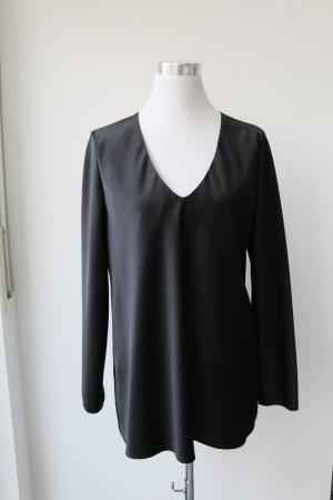 Bluse mit V-Ausschnitt von Hugo Boss, schwarz, Gr. 42