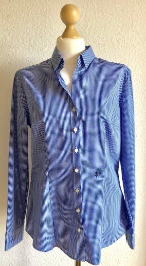 Bluse mit Vichy-Karo in Blau
