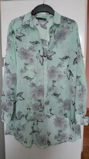 bluse mit Vögelchen Muster gr 38
