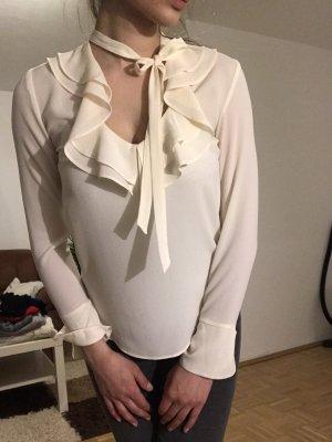 H&M Blusa con lazo beige claro