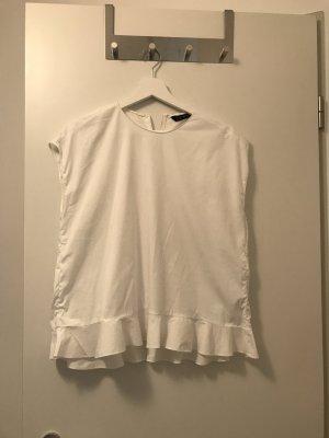 Zara Camicetta con arricciature bianco