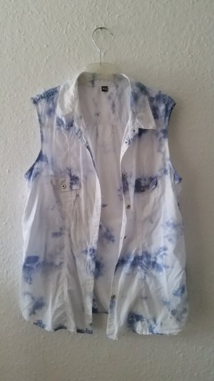 Bluse mit washed-out Print