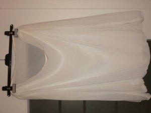 Bluse mit Wasserfallausschnitt (beige)