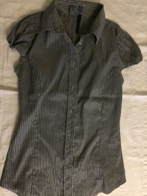 Bluse, mng suit, Stretch, metallic grau, gr S