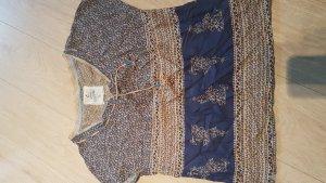 Campus Mouwloze blouse beige-donkerblauw