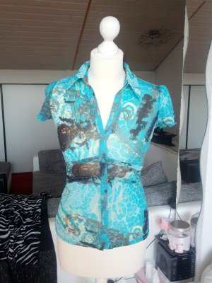 #Bluse #Muster #Designer #Comma #Mesh #halb transparent