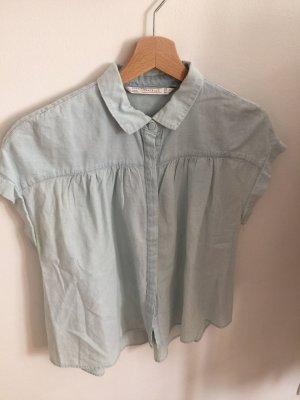 Zara Jeans blouse lichtblauw