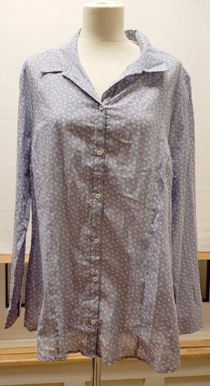 Bluse, Neu, blassblau, weiss, leichte Baumwolle, NP. 74.95, Gina Laura, Gr. 44 46