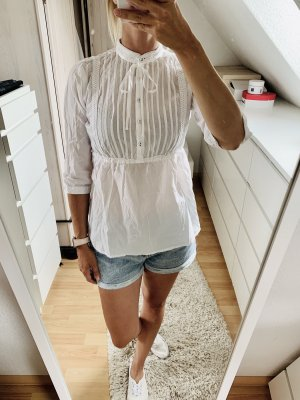 Stand-Up Collar Blouse white