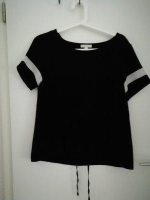Charles Vögele Camisa de mujer blanco-negro