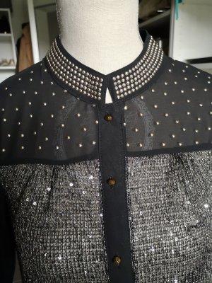 Transparante blouse zandig bruin
