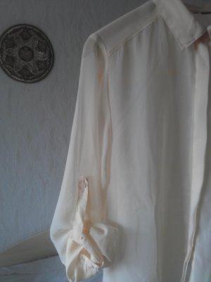 Bluse nude semitransparent