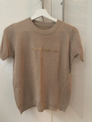 Short Sleeve Sweater gold-colored