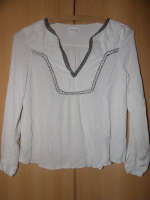 H&M Blusa de túnica blanco Viscosa