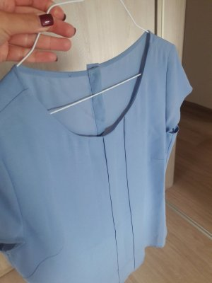 Bluse Oberteil Vila 36 S himmelblau blau