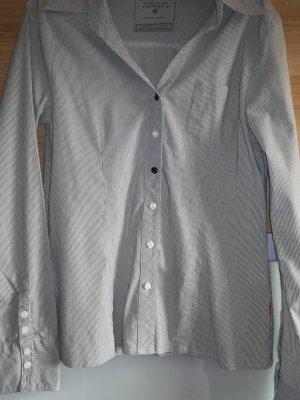 Long Sleeve Blouse white-grey
