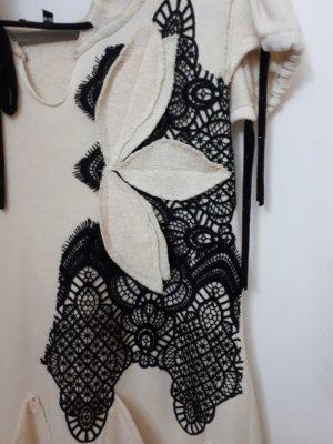 Greek design Vestido de tela de sudadera crema