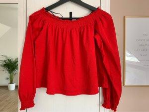 H&M Blusa alla Carmen rosso