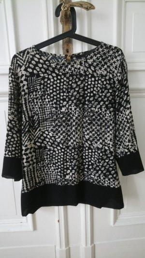 One Two Luxzuz Blusa de túnica negro-crema