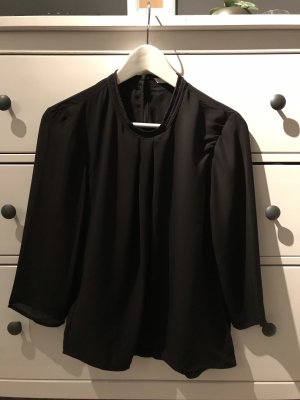 Only Glanzende blouse zwart