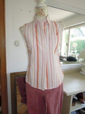 Bluse Orange Rosé gestreift Gr. 40