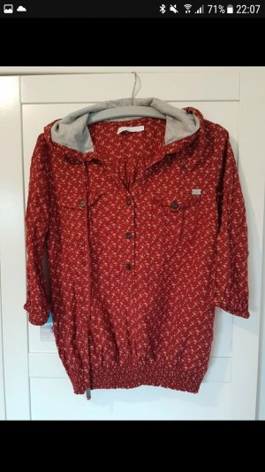 Bluse orange rot Muster Pullover
