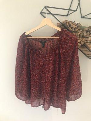 Bluse Oversize/Carmenraffung