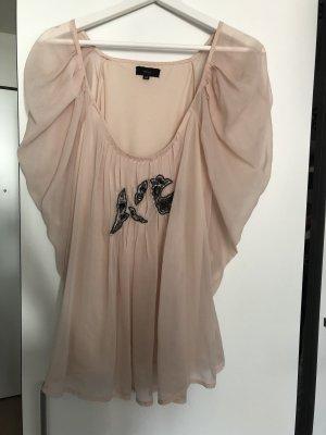 Minus Camicetta con arricciature rosa pallido