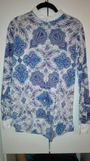 Bluse Paisley Muster blau