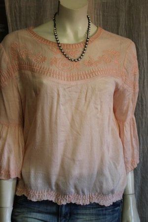 Pepe Jeans Ruffled Blouse dusky pink viscose