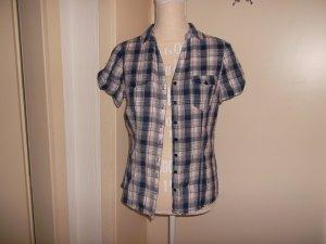 bluse,pimkie,gr. 38,sehr gut erhalten,kurzarm,streifen,blau,weiß,rot