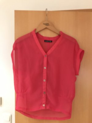 Atmosphere Short Sleeved Blouse pink-neon pink