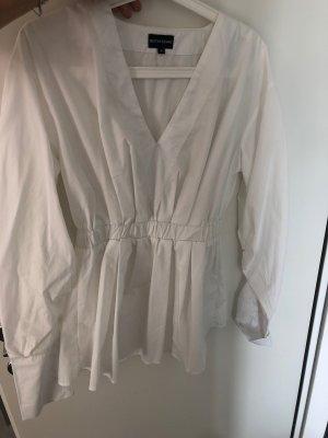 PrettyLittleThing Blusa larga blanco