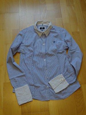 Bluse Polo Sylt klassisch blau-weiß
