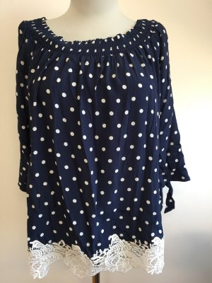 Orsay Shirt Tunic dark blue-white