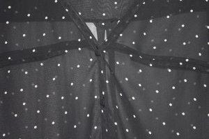 Bluse Punkte schwarz weiß