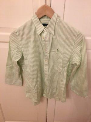 Bluse Ralph Lauren Größe 10/ 40 grün weiß gestreift