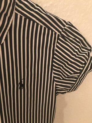 Bluse, Ralph Lauren, kurzärmlig, schwarz weiß gestreift
